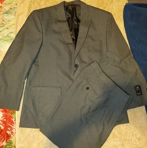 Haggar charcoal pinstripe suit and Pant